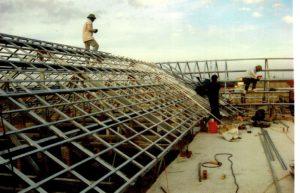Neue Dachunterkonstruktion, nach Sturmschaden
